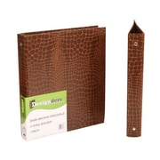 JAM Paper® Premium Crocodile Textured 3 Ring Binders, 1 Inch, Brown, Sold Individually (751CBR)