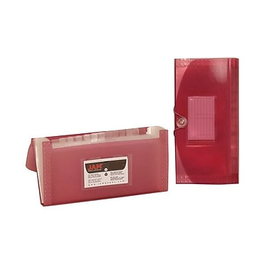 JAM Paper® Check Size 13 Pocket Expanding File, Pink, Sold Individually