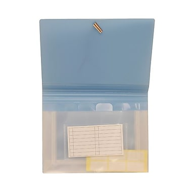 JAM Paper® Coupon 6 Pocket Expanding File, Baby Blue