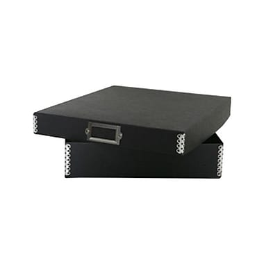 JAM Paper® Letter File Box, 12 x 9.5 x 2.25, Black Kraft, Sold Individually (9039BL)