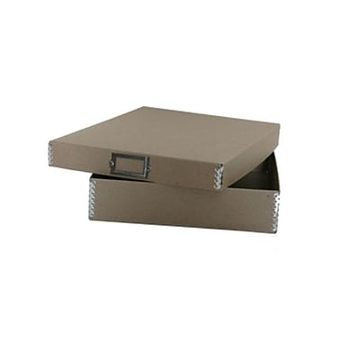 JAM Paper® Letter File Box, 12 x 9.5 x 2.25, Brown Kraft, Sold Individually (9039BR)