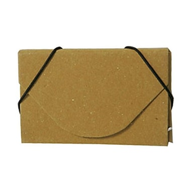 JAM Paper® Kraft Ecoboard Business Card Case, Mustard Yellow Recycled Kraft, 5/Pack (2500204g)
