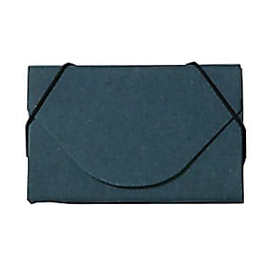 Jam PaperMD – Étui pour cartes professionnelles en carton renforcé avec rabat rond, kraft bleu royal, 5/paquet