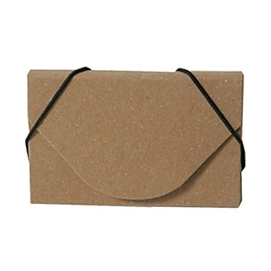 JAM Paper® Kraft Ecoboard Business Card Case, Terracotta Brown Recycled Kraft, 5/Pack (362656g)