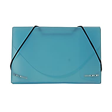 JAM Paper® Plastic Business Card Case, Blue Frosted, Sold Individually (2500 013)