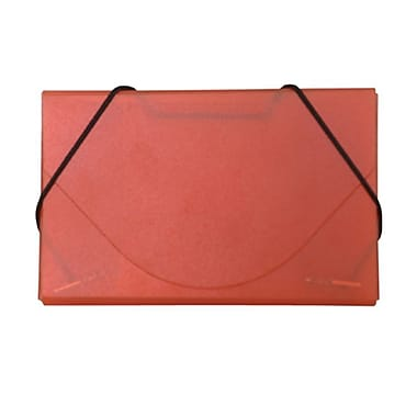 JAM Paper® Plastic Business Card Case, Orange Frost, Sold Individually (3637142)