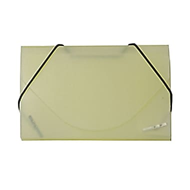 JAM Paper® Plastic Business Card Case, Yellow Frosted, Sold Individually (2500 011)