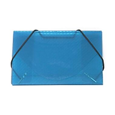 JAM Paper® Plastic Business Card Case, Blue Grid, 5/Pack (2500005g)