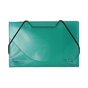 JAM Paper® Plastic Grid Business Card Case With Round Flap, Green, Sold Individually