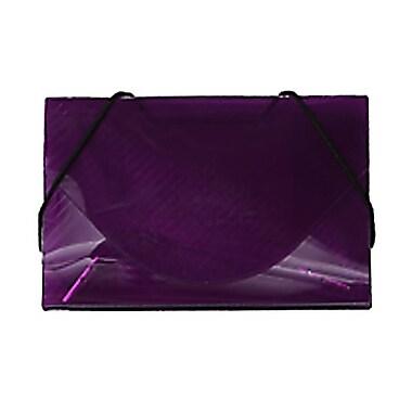 JAM Paper® Plastic Business Card Case, Purple Grid, 5/Pack (2500 007g)