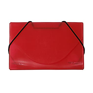 JAM Paper® Plastic Business Card Case, Red Grid, Sold Individually (2500 002)