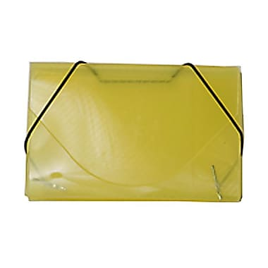 JAM Paper® Plastic Business Card Case, Yellow, Sold Individually (2500 003)