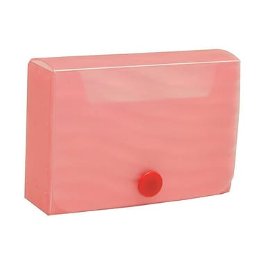 JAM Paper® Plastic Business Card Case with Snap Closure, Pink Wave, 5/Pack (245012473g)