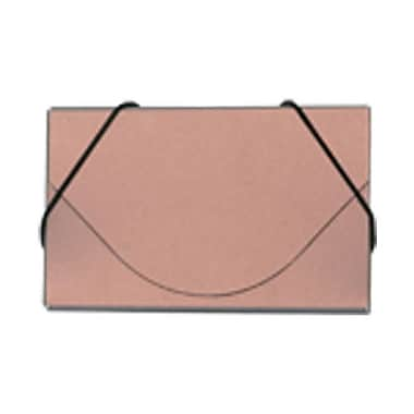 Jam PaperMD – Étui pour cartes professionnelles en plastique avec rabat rond, cuivre métallique, 5/paquet