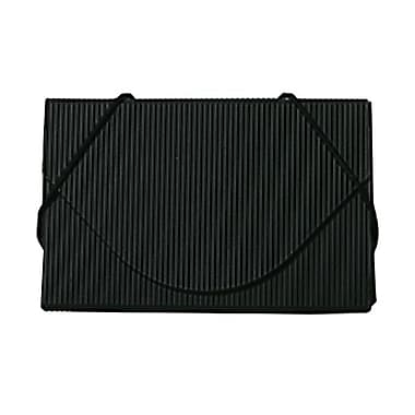 JAM Paper® Plastic Business Card Case With Round Flap, Black Ridge