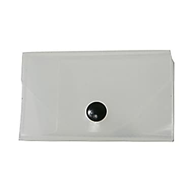 JAM Paper® Plastic Business Card Case with Snap Closure, Clear, Sold Individually (368668)