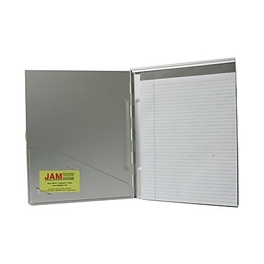 JAM Paper® Large 9 3/8 x 11 7/8 Aluminum Pad Holder, Silver, Sold Individually