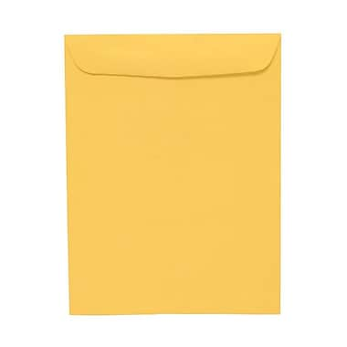 JAM Paper® 100/Pack 10in. x 13in. Clasp & Open End Straight Flap Envelopes With Gummed Closure