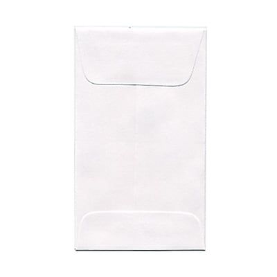 JAM Paper 3 Coin Envelopes 2.5 x 4.25 White 25 pack 1623183