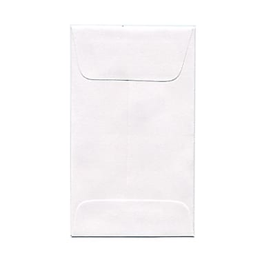 JAM Paper® #3 Coin Envelopes, 2.5 x 4.25, White, 200/Pack (1623183g)
