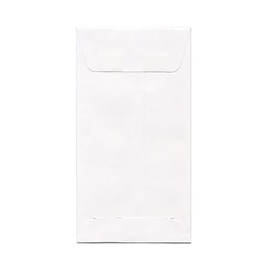 JAM Paper® #7 Coin Envelopes, 3.5 x 6.5, White, 1000/Pack (95083B)