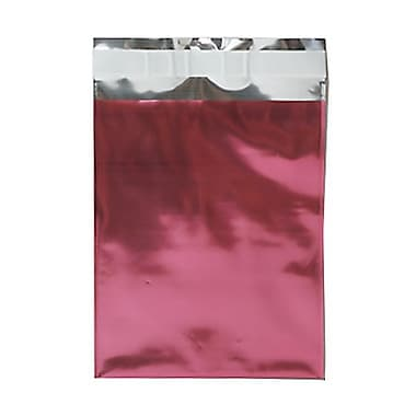JAM Paper® Foil Envelopes with Self Adhesive Closure, 6 1/4 x 7 7/8, Open End, Pink, 100/pack (01323276B)