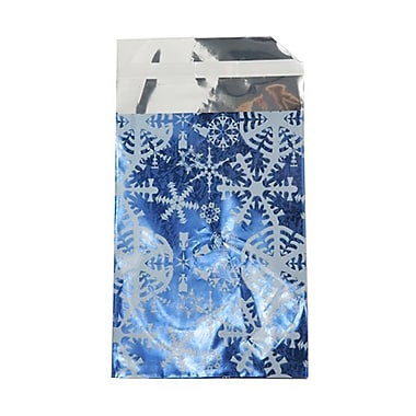 JAM Paper® Foil Envelopes, 7 x 9.5, Blue Snowflake, 100/Pack (01323316B)