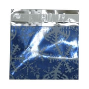 JAM Paper® Foil Envelopes, Booklet, 5 x 6 1/8, Blue with White Snowflake, 100/pack (01336166B)