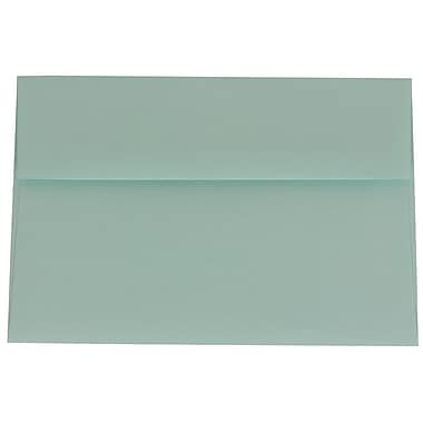 JAM Paper® A8 Invitation Envelopes, 5.5 x 8.125, Aqua Blue, 100/Pack (1523988g)