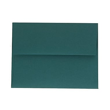 JAM Paper® A2 Invitation Envelopes, 4.38 x 5.75, Teal Blue, 100/Pack (124823544g)