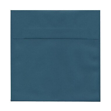 JAM Paper® 8.5 x 8.5 Square Envelopes, Teal Blue, 25/Pack (3157507)
