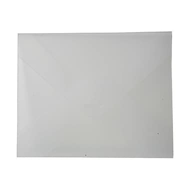 JAM Paper MD – Porte-document format livret, rabat à insertion, 8 7/8 po x 11 3/8 po x 1/8 po, transparent givré, paquet de 4