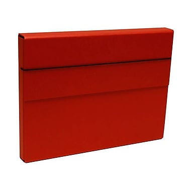JAM Paper® Heavy Duty Chipboard Portfolios With Elastic Closure, 10 x 13 1/4 x 1 1/4, Red, Sold Individually (2154512318)