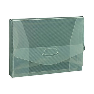 JAM Paper® Plastic Portfolio with Tuck Flap Closure, Photo Size, 4.5 x 6 1/8 x.88, Clear, 10/Pack (235012308g)