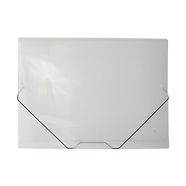 JAM Paper® Portfolio with Elastic Closure, Large, 11 x 15 x 1/2, Clear Poly, Sold Individually (6102 001)