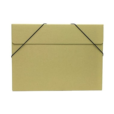 JAM Paper® Kraft Chipboard Portfolio, Elastic Closure, Large, 11 x 15 x 3/8, Brown Kraft, Sold Individually (6102 201)