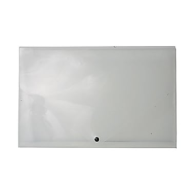 JAM Paper® Plastic Portfolio with Snap Closure, Large, 11 x 17 x 0.75, Clear, Sold Individually (2254001)