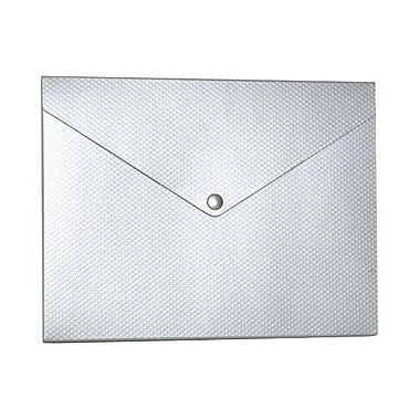 JAM Paper® Plastic Portfolio with Snap Closure, Medium, 9.25 x 12.25 x 0.5, Silver Kraft with Dots, 2/Pack (CF3RBg)