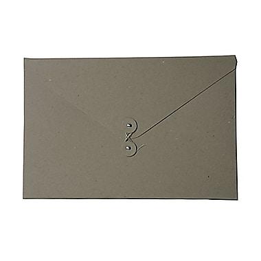 JAM Paper® Kraft Chipboard Portfolio, Button and String Tie Closure, Large, 9.25 x 14 x.38, Natural Kraft, 2/Pack (2008 201g)