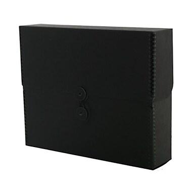 JAM Paper® Kraft Chipboard Portfolio, Button and String Tie Closure, Extra Wide, 9.5 x 12 x 2.75, Black Kraft, 2/Pack (3536848g)