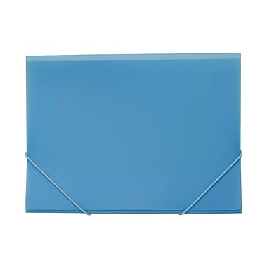 JAM Paper® Plastic Portfolio with Elastic Closure, Letter Booklet, 9.5 x 12.38, Baby Blue, 4/Pack (233214717g)
