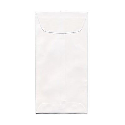 JAM Paper 1 Scarf Open End Policy Envelopes 4 5 8 x 6 3 4 White 25 pack 1623988