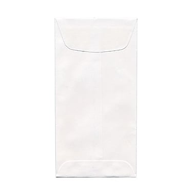 JAM Paper® 1 Scarf Open End Policy Envelopes, 4.63 x 6.75, White, 1000/Pack (01623988B)