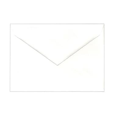JAM Paper® A6 Invitation Envelopes, 4.75 x 6.5, White with V-Flap, 1000/Pack (J0567B)