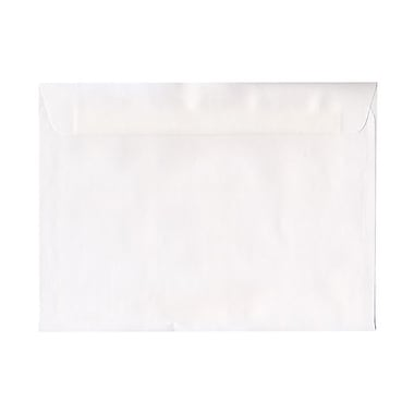 JAM Paper® 9in. x 12in. Booklet Straight Flap Envelopes With Gummed Closure, White, 1000/Pack