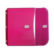 JAM Paper® 8 5/8 x 11 1/2 Binder Envelopes With Hook and Loop Fastener Closure, Pink, 12/Pack