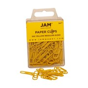 JAM Paper® Regular Colored Paper Clips, Yellow, 100/Box