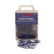 JAM Paper® Circular Colored Paper Clips, Dark Blue, 50/Box