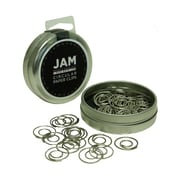 JAM Paper® Circular Colored Paper Clips, Silver, 50/Box