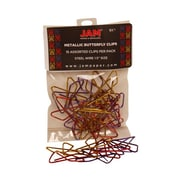 JAM Paper® Butterfly Paper Clips, Assorted, 15/Pack